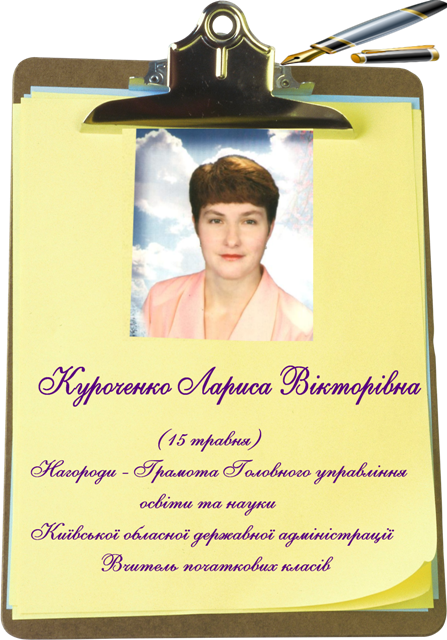 Куроченко  Вчитель початкових класів