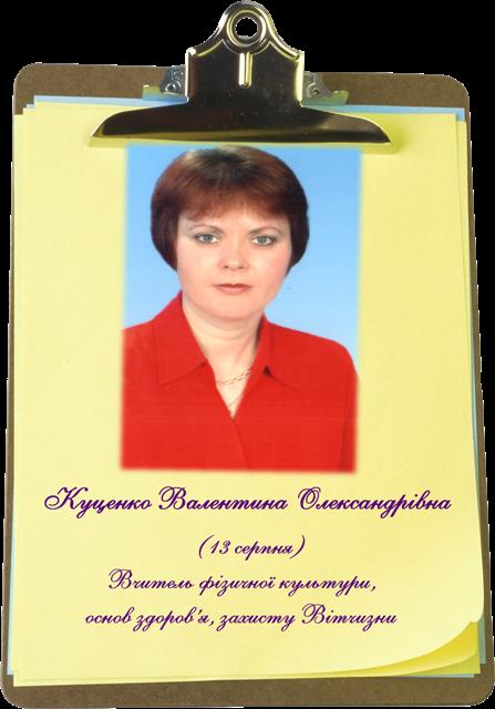 Куценко Куценко Валентина Олександрівна