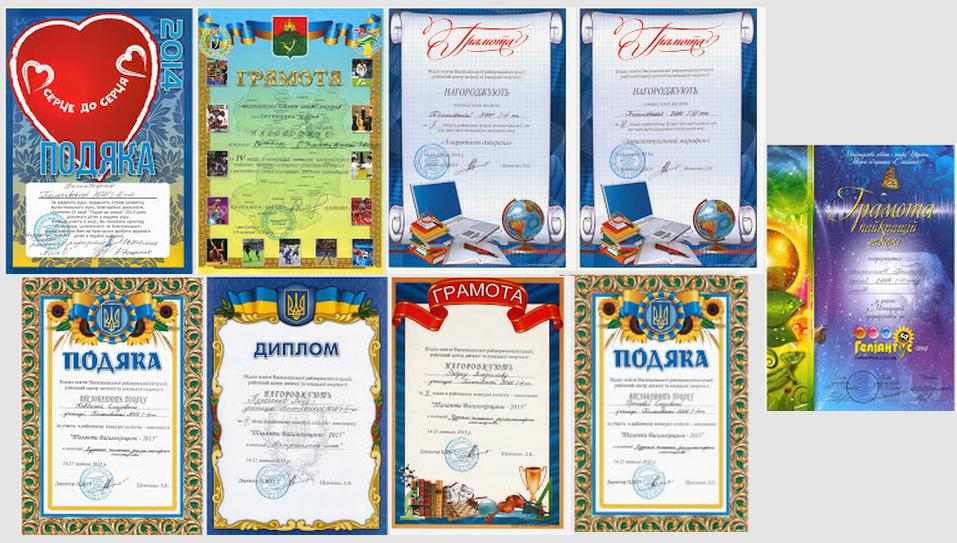 Нагороди 2015 Наші досягнення