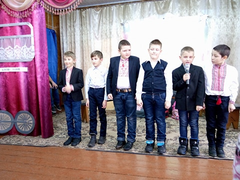 Привітання молодших чоловіків Свято весни